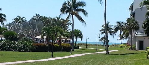 Courtyard toward beach